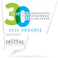 Top 30 Technologists, Transformers & Trailblazers of 2016